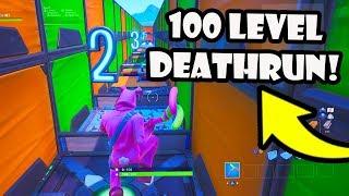 I'm Making a 100 LEVEL DEFAULT DEATHRUN in Fortnite Creative!