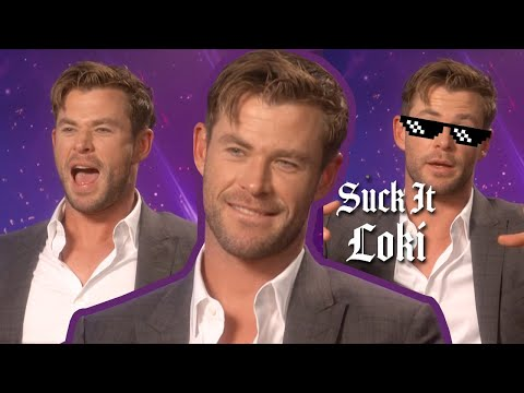 Chris Hemsworth Tries To Name Every Marvel Film In 1 Minute   Avengers: Endgame   PopBuzz Meets