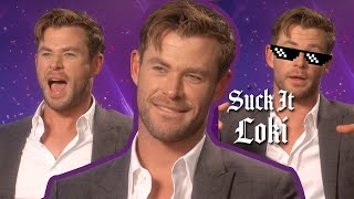 Chris Hemsworth Tries To Name Every Marvel Film In 1 Minute | Avengers: Endgame | PopBuzz Meets