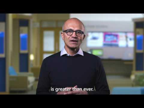 Microsoft CEO Satya Nadella Visual Studio 2017 launch event greeting
