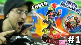 SKYLANDERS IMAGINATORS GAME AT OUR HOUSE! Ember Fire Sentinel Sensei Selfie (E3 Gameplay Update #1)