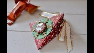 Resteverwertung: Dreieckige Box aus Designerpapier schnell gemacht