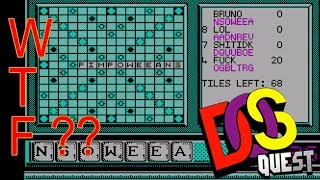 Scrabble game show MS-DOS games REVIEW!