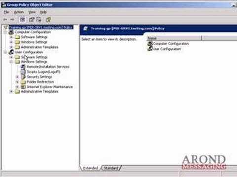 gpo editor windows 2003