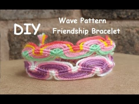 DIY Friendship Bracelet Double Wave Pattern Tutorial YouTube Interesting Double Wave Friendship Bracelet Pattern