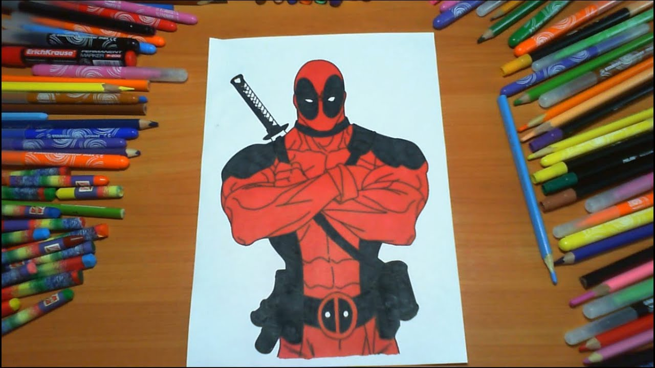 Deadpool New Coloring Pages for Kids Colors Superheroes Coloring