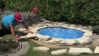 GARDEN (94) - Application of sandstone (pond) - Zastosowanie piaskowca (oczko wodne)