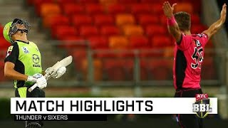 Thunder claim Sydney Smash at home | KFC BBL|08
