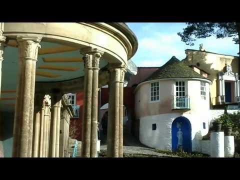 Sir Clough Williams-Ellis Architect of Portmeirion Gwynedd Snowdonia in North Wales Good Friday 2016