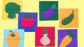 Пазлы из фетра овощи Развивающие игры #развивающиеигры #пазлы
