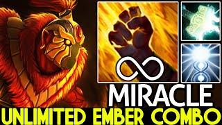 MIRACLE [Ember Spirit] Unlimited Combo with Chakra Magic Beautiful Plays 7.26 Dota 2
