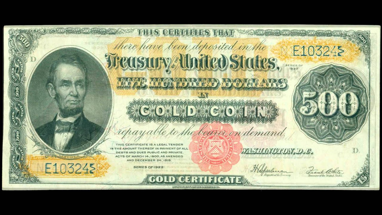 United states paper money currency gold certificates youtube united states paper money currency gold certificates 1betcityfo Gallery