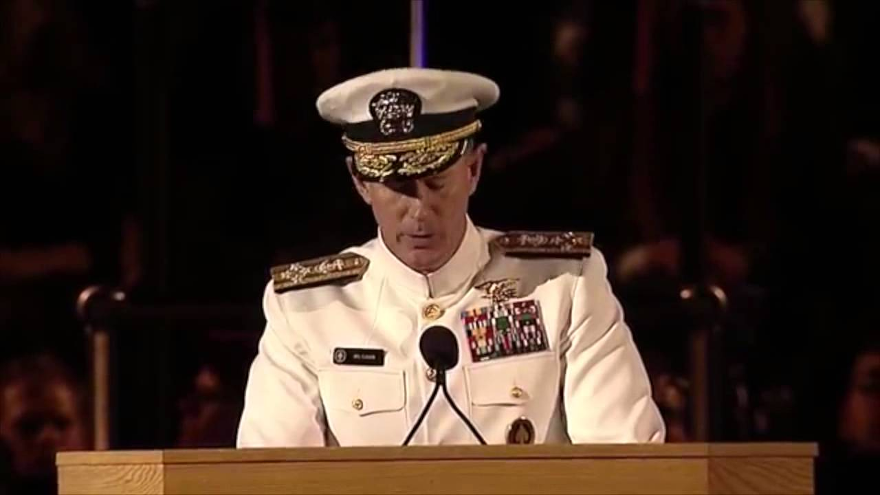 Admiral Speech About Making Bed