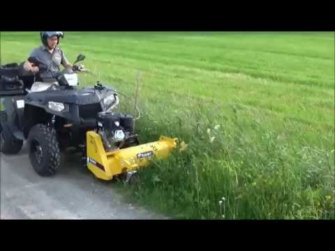 Rammy Flail Mower 120 ATV With Side Shift Kit. Front Mower For ATV.