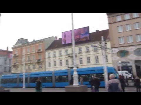 5 Croatia Travel, Zagreb Ban Jelacic Square 크로아티아 자그레브 반옐라치치광장