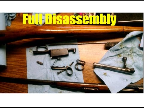 Chilean Mauser Model 1895 Full Disassembly: Engineers/Cavalry Carbine Loewe Berlin 7x57mm