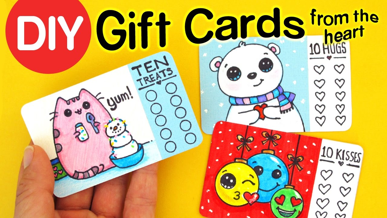 How to make gift cards from the heart fun diy holiday craft youtube solutioingenieria Image collections