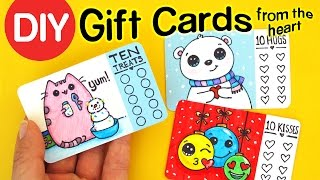 DIY How to Make Gift Cards from the Heart - Fun Holiday Craft
