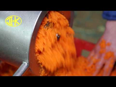 Измельчение моркови на ДВАК В-160-01