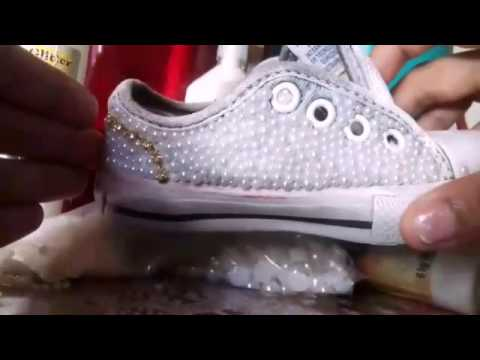 Como fazer all star Tenis de perolas - YouTube 64eaa9e83b