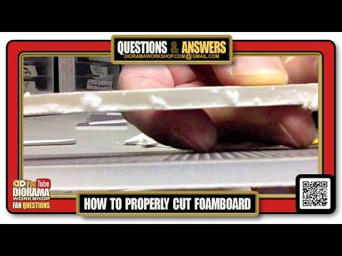 How to properly CUT Foamcore / Foam board ?