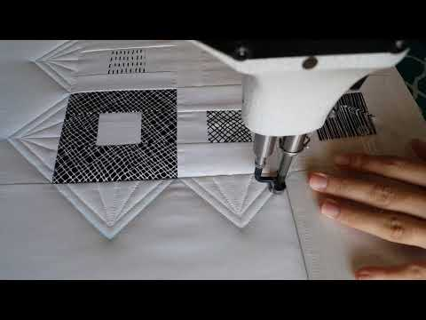 Machine Quilting a Modern Border with Rulers by Natalia Bonner
