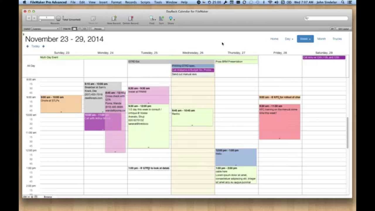 FileMaker Calendar and Resource Scheduling - SeedCode