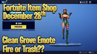 Fortnite Item Shop Today **New Clean Grove Emote** (December 28th 2018) [Fortnite Battle Royale]