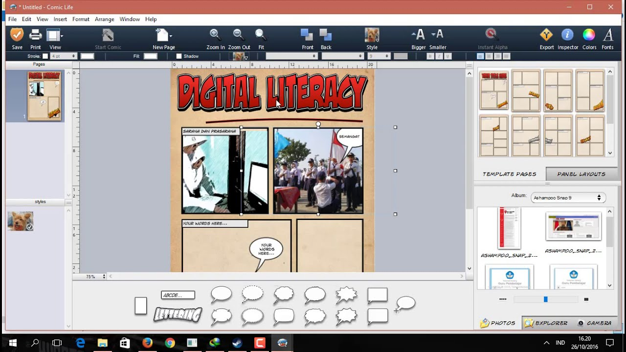 Cara Membuat Komik Digital Dengan Comic Life Youtube