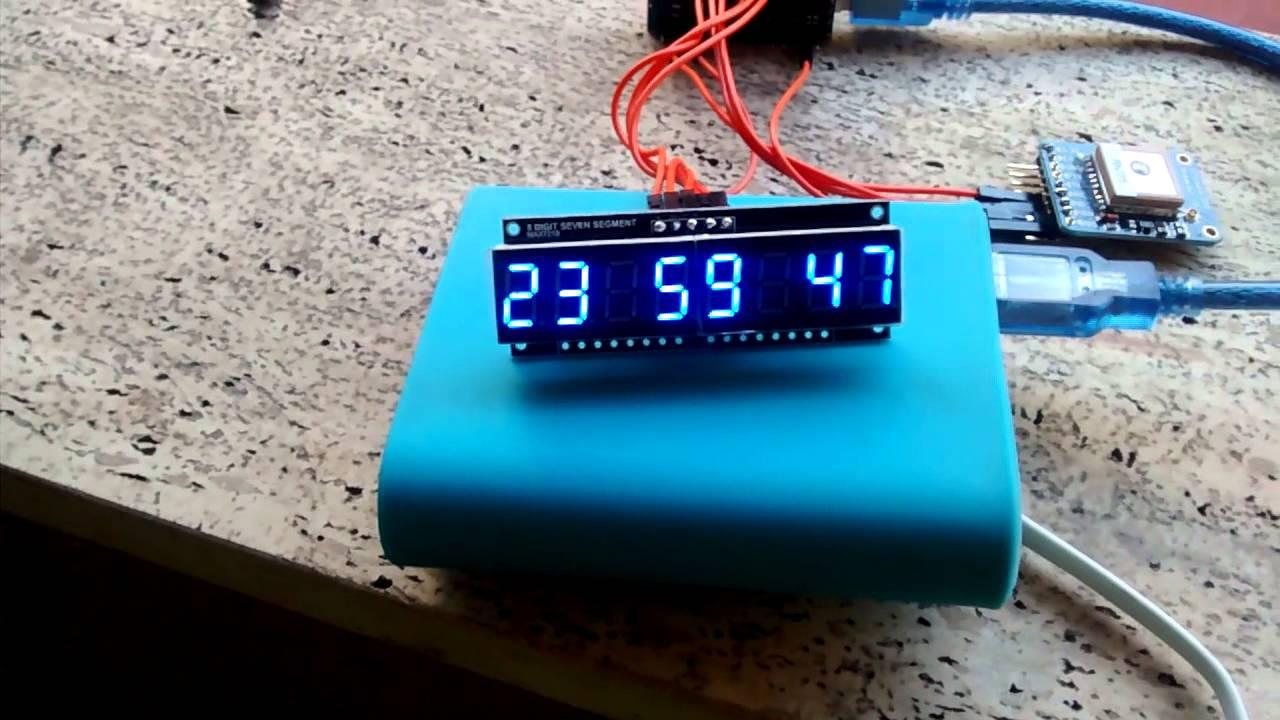 Gps arduino clock youtube