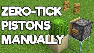 Minecraft 1.14 ▫ Manual Zero-Tick Pistons & Cactus Nano-Farm! [Redstone Tutorial]