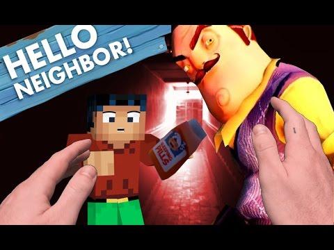 Realistic Minecraft: Hello Neighbor - Giving the Neighbor SLEEPING PILLS