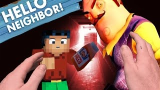 Realistic Minecraft: Hello Neighbor - Giving the Neighbor SLEEPING PILLS
