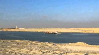 The completion of the dredging of 96% of the new Suez Canal Friday, July 10, 2015