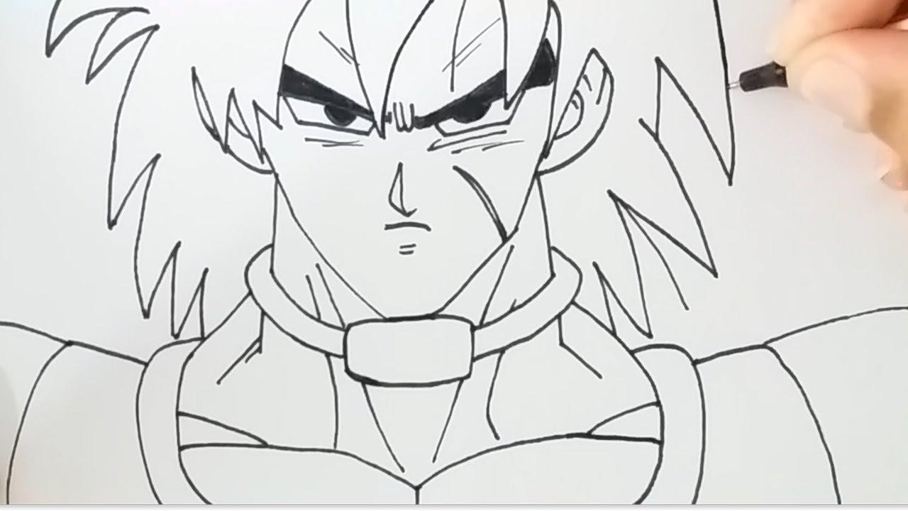 como desenhar broly lendÁrio saiyajin filme dragon ball super