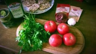 Салат из помидоров и кинзы, легкий, летний, пряный...