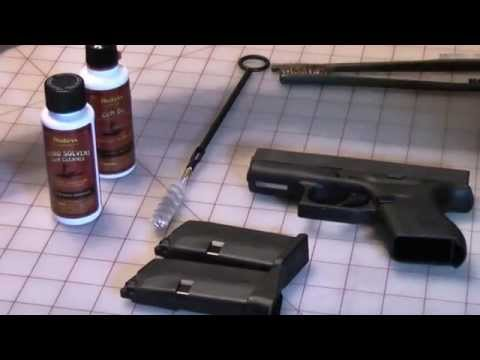 Field-Strip/Cleaning of a Glock 43.