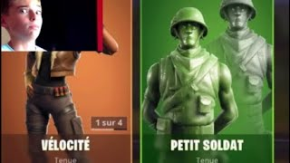 "I buy the ""little soldier"" skin on Fortnite Royal Battle!!!"