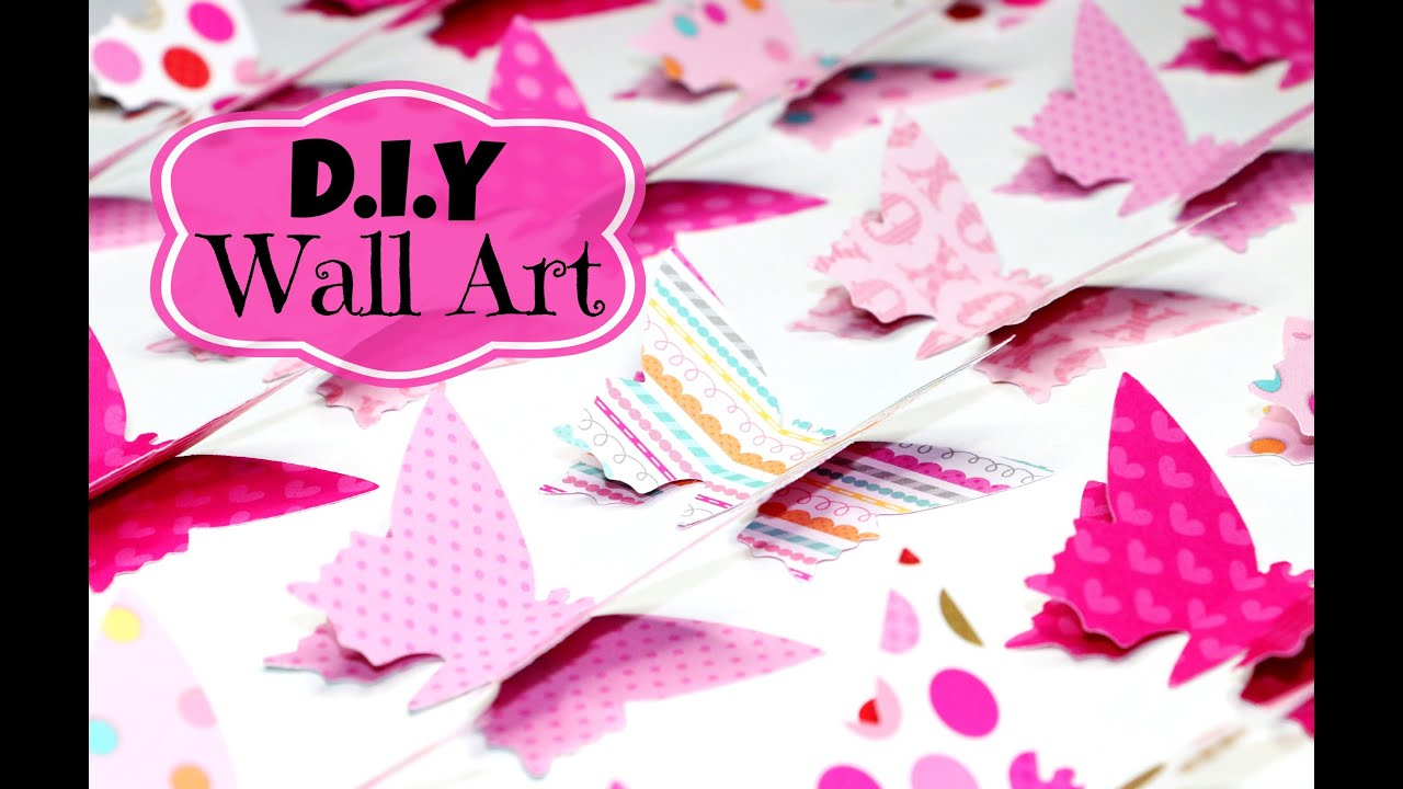 Pink Wall Art diy room decor easy wall art - youtube