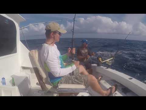 Deep Sea Fishing; Trolling In Aruba For Tuna