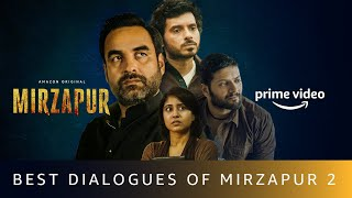 Best Dialogues of MIRZAPUR 2 | Pankaj Tripathi, Ali Fazal, Divyenndu | Amazon Prime Video