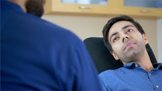 Video clip of a young patient discussing his problem with the dentist - Health, Fitness, Wellness