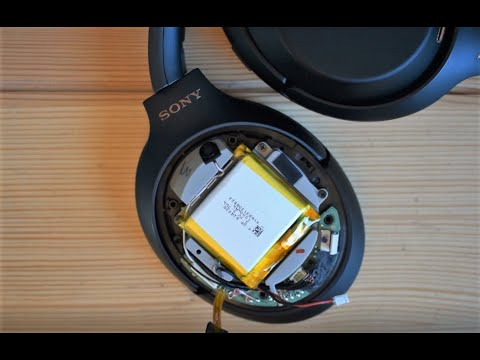 Sony WH-1000XM3 Battery Troubleshooting, Repair Or Replacement Walkthrough - Teardown And Fix