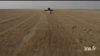 Etats Unis, Kansas : récolte de blé