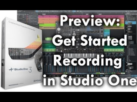 Preview: Get Started Recording with Studio One