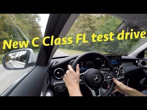 Mercedes C Class 220d 2019 FL test ride by JR in 4K (Croatian roads)