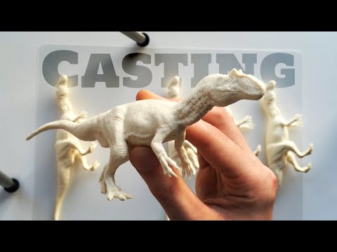 Casting an Allosaurus Dinosaur Model with Resin