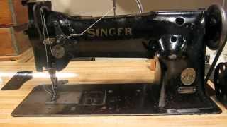 Singer 111W Needle Feed Industrial Sewing Machine Demonstration  (Singer 111WSV71)
