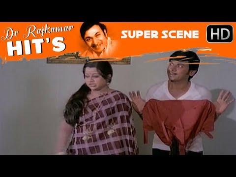 Manjula comes to Dr.Rajkumar's house | Kannada Comedy Scenes | Nee Nanna Gellalare Kannada Movie