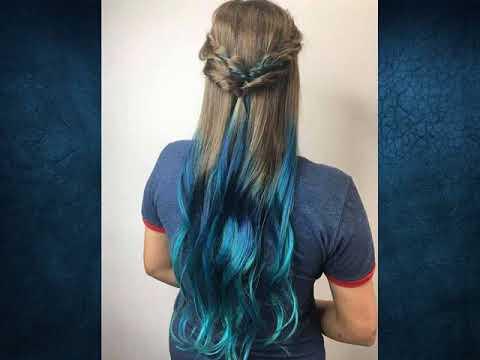 Mavi Ombre Saç Rengi Ve Saç Modelleri Youtube